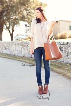 cute sweater + jeans
