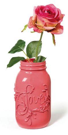 Love Jar | DIY Valentine's Day Vase from @joannstores | Valentine's Day Decorations | Mason Jar Crafts