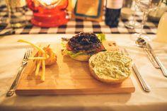 Pesto Mayo, Basil Pesto, Our Wedding Day, Wedding Reception, Butcher Block Cutting Board, Beef, Gouda, Cheese, Hamburgers