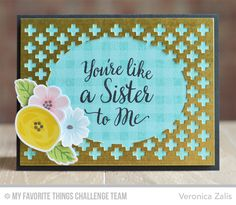 Gingham Background, Modern Blooms, Cross-Stitch Oval STAX Die-namics, Proof Positive Cover-Up Die-namics, Modern Blooms Die-namics - Veronica Zalis  #mftstamps