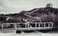 Sur la commune de Bidart, le château du Baron de l'Espée (né à Metz en 1852 et mort à Antibes en 1918), construit au sommet de la colline... Antibes, Metz, Cabin, Country, House Styles, Photos, Basque Country, Pictures, Rural Area