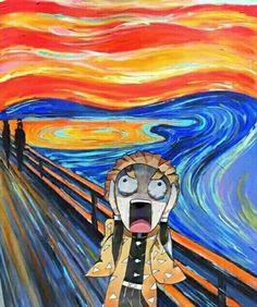 Demon Slayer meme i arty - 1 Otaku Anime, Anime Meme, Manga Anime, Anime Art, Slayer Meme, Dragon Slayer, Anime Kawaii, Animes Wallpapers, Aesthetic Anime