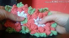 Flor ponto pipoca em Crochê