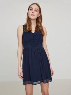 ROMANTIC MINI DRESS, Black Iris, large