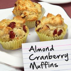 Recipes for Diabetes: Almond Cranberry Muffins