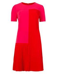 Pleated Drop Waist Tunic Dress | M&S