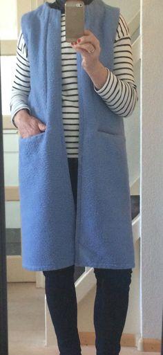 Handmade dekenjas blanketcoat cardigan long waistcoat blanket,  size S M door MORETHANVINTAGENL op Etsy