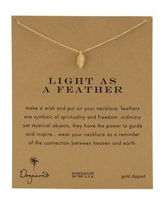 Light+as+a+Feather+Necklace+by+Dogeared+at+Neiman+Marcus.