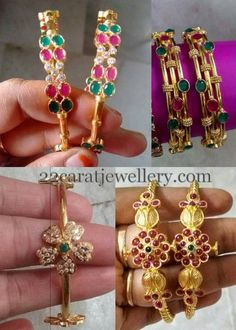 Jewellery Designs: 6 Grams Gold Bangles Gallery