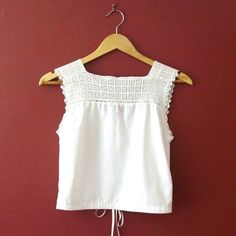 vintage crochet yokes | 1910s Restored Antique Late Edwardian Corset Cover or Camisole with ...