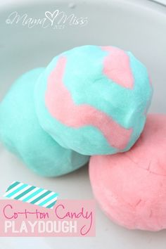 cotton candy playdough - recipe including cotton candy flavoring for scent
