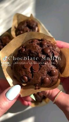 Fun Baking Recipes, Sweet Recipes, Cooking Recipes, Healthy Dessert Recipes, Healthy Snacks, Food Cravings, Food Dishes, Yummy Food, Chocolate Chips