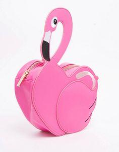 Skinny Dip Flamingo Cross Body Bag Pink Shoulder Bags Chain Crossbody