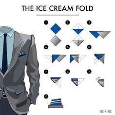 where you can find everything you need to look, think and behave as a true gentleman Pocket Square Folds, Pocket Square Guide, Pocket Square Styles, Pocket Squares, Men Fashion Show, Suit Fashion, Mens Fashion, Tie A Necktie, Pocket Handkerchief