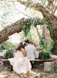 embrace toppled trees http://www.stylemepretty.com/2013/11/15/wedding-inspiration-shoot-from-tricia-fountaine-caroline-tran-winners/