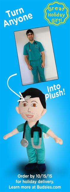Such a personalized holiday gift! Order a plush doll of your loved ones. Super simple to do but needs to be ordered by 10/15/15. Check out Budsies.com/selfies.