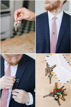 Shrinky Dink Tie Tacks