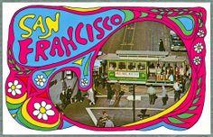 San Francisco chrome postcard from 1968