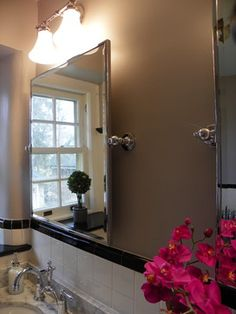 1930's black and white bath - traditional - bathroom - philadelphia - Amy Cuker, MBA, LEED AP