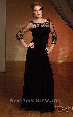 Terani M1165 Dress - NewYorkDress.com Very classy! Maybe in red!