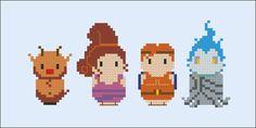 Hercules - Cartoons - Mini People - Cross Stitch Patterns - Products
