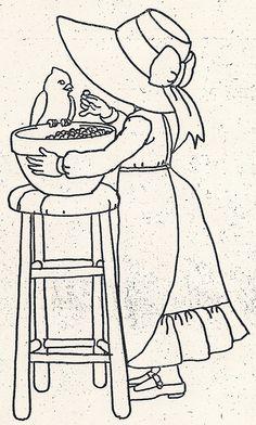 Girl Feeding Bird | Flickr - Photo Sharing! she has manymany patterns on site