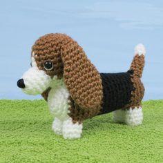 AmiDogs Basset Hound amigurumi crochet pattern [AD019] - US$5.00 : PlanetJune Shop, cute and realistic crochet patterns & more