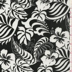 """Tropical Floral Challis Fabric  Suitable for Blouses & Dresses  100% Rayon  58"""" wide"""