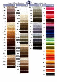 DMC Shades Guide 4 I need to buy all the browns/tans Cross Stitch Thread, Cross Stitch Charts, Cross Stitch Designs, Cross Stitching, Cross Stitch Embroidery, Cross Stitch Patterns, Cross Stitch Tutorial, Stitch Witchery, Embroidery Tools