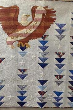 Beautiful Americana quilt. 24blocks.com