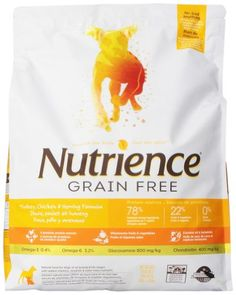 Nutrience Grain Free Dog Food, 18-Pounds, Turkey, Chicken and Herring | DoRight Pets