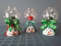 Small, snowman themed candle holders - on sale in my craft store