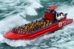 DONE THIS, ONCE!!!  Do you feel the need for speed! Blast off on a Niagara Falls Wet Jet Tour and speed upriver in a powerful Jet Boat towards the Niagara Gorge into the legendary churning waters of the Niagara Whirlpool.  You are gonna get Wet, but that's part of the fun!