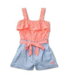 Roxy Kids - Summers Dream Romper (Toddler/Little Kids) (Aurora Dot) - Apparel - ShopStyle Girls' Onesies Little Girl Outfits, Little Girl Fashion, Toddler Fashion, Toddler Outfits, Kids Outfits, Kids Fashion, Manequin, Baby Kids Clothes, Kids Clothing