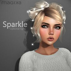 779a4128f1e55 Brand New Sparkle Release Second Life New hair release with optional  lights, sold in world now! SL landmark here.