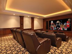 Traditional Home Theater - Come find more on Zillow Digs!