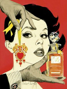 J Frederick Smith artwork story illustration looks like it could be a perfume ad!
