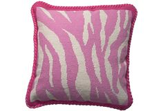 Zebra Print Needlepoint Pillow