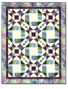 """Take a stroll with us with this delightful quilt designed by Kate Mitchell.  Teh Williamstown Stroll quilt kit features Stonehenge fabrics and measures 60"""" x 76"""".  The quilt kit includes all of the fabric required to complete this quilt, including binding.  Coordinating backing fabric is also available."""