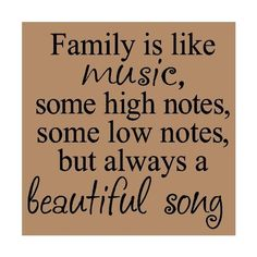 Wall\ Sayings\ Vinyl\ Lettering T014 Family Is Like Music, Some High... ❤ liked on Polyvore