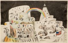 Exhibited: Saul Steinberg (traveling retrospective), Whitney Museum 1978; Saul Steinberg Illuminations (traveling retrospective) J.P. Morgan Library 2006.
