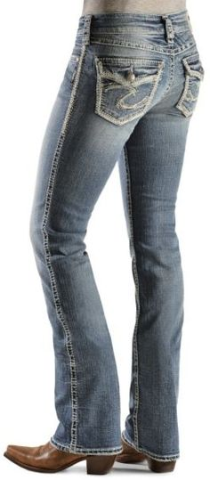 #buffalogirloutfitters approved Lovein the Silver Jeans - Suki Flap Bootcut Jeans - Sheplers