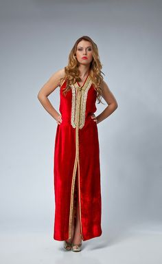 Sexy  Rouge Amour  Moroccan formal Dress by SallyKaftanDesign, $599.00