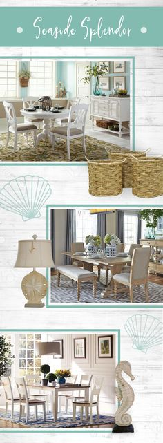 New England living is closer than you think! Create a nautical theme with crisp whites, grays and a range of blue hues. Add some beach themed accents, like sand dollar lamps or seahorse sculptures to elevate your look!