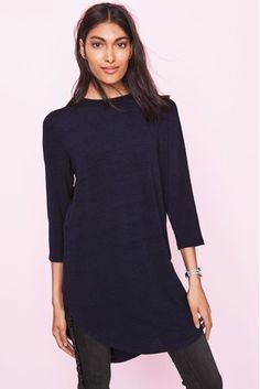 Buy Navy Woven Mix Tunic from the Next UK online shop fcdc9ce6bf6