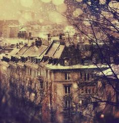Victorian city in the winter