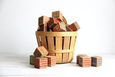 collection of antique childrens blocks