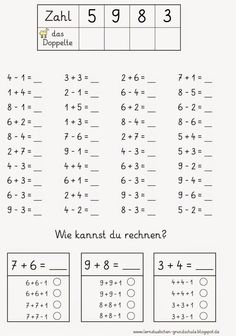 a little bit of computer food - Education 2019 Trend Mental Maths Worksheets, 2nd Grade Worksheets, School Worksheets, 1st Grade Math, Kindergarten Math, Math For Kids, Fun Math, Welcome To School, Eureka Math