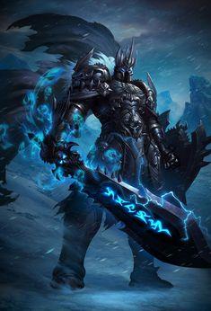 Arthas Menethil, the Lich King, World of Warcraft, Warcraft is Dark Fantasy Art, Fantasy Armor, Fantasy World, Death Knight, Knight Armor, Warcraft Characters, Fantasy Characters, Art Warcraft, World Of Warcraft Game