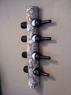 Wall hanging Aspen wine rack by AspenBottleHolders on Etsy, $149.00